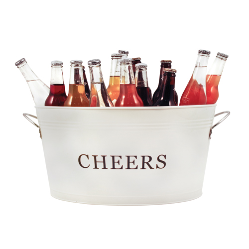 Galvanized Cheers Beverage Party Tub