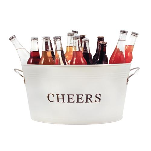 Galvanized Cheers Beverage Party Tub
