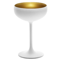 Blanc Champagne Coupe Gold Interior Set of 6