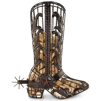 Cowboy Boot Wine Cork Cage