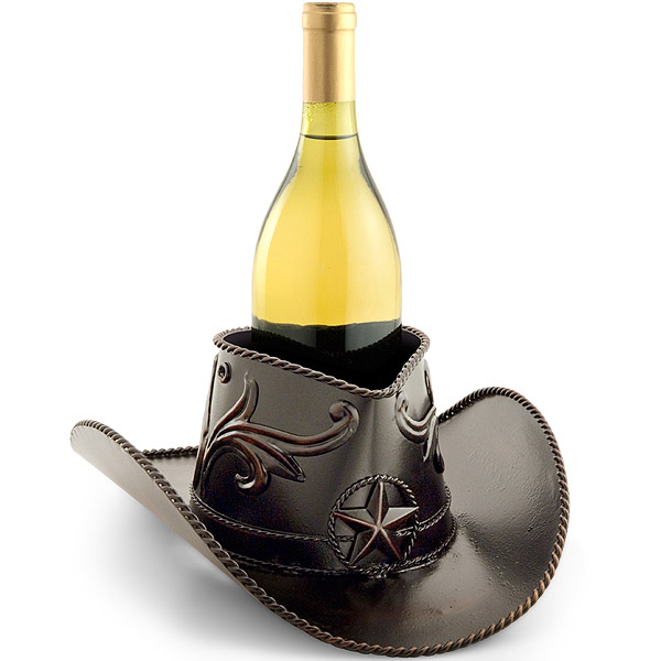 Cowboy Hat Wine Bottle Holder
