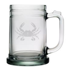 Crab Etched Tankard Beer Mug Set