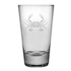 Crab Etched Hi-Ball Glass Set