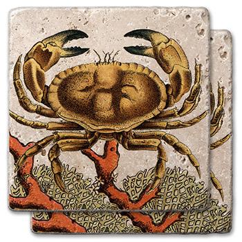 Stone Ocean Crab Coasters