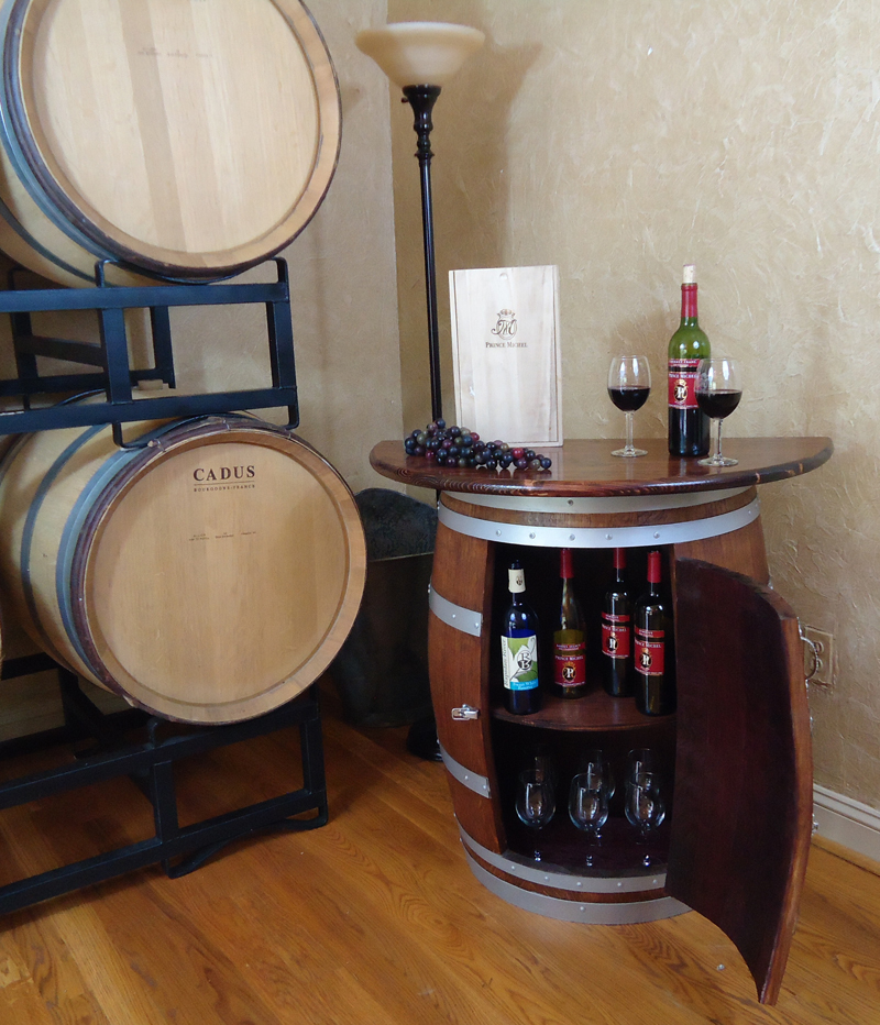 Wine or Whiskey Barrel Credenza