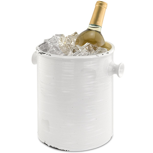 Country Ceramic Ice Bucket