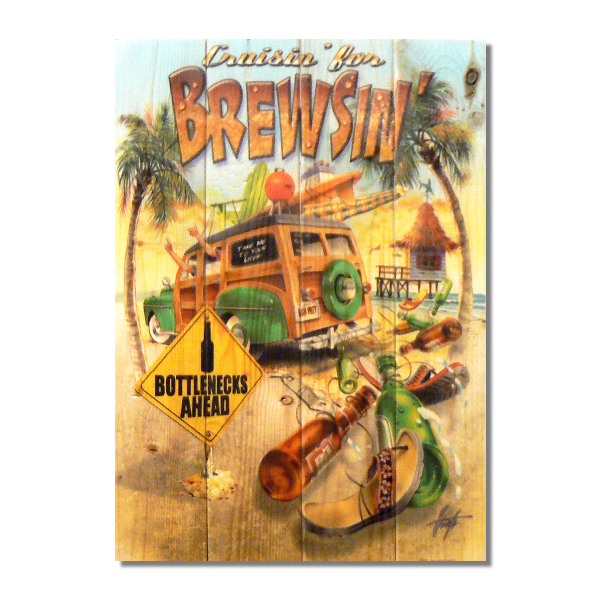 Crusin Brewsin Gizaun Wall Art