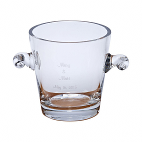Simon Crystal Collection Personalized Ice Bucket