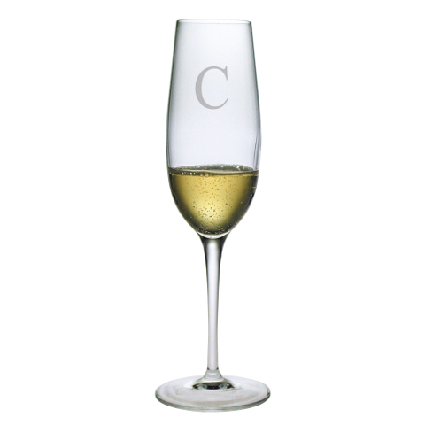 Customized Single Letter Champagne Flutes (set of 4)