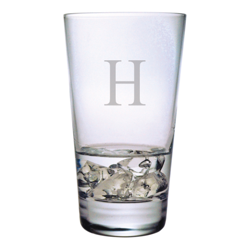 Customized Single Letter Highball Glasses (set of 4)