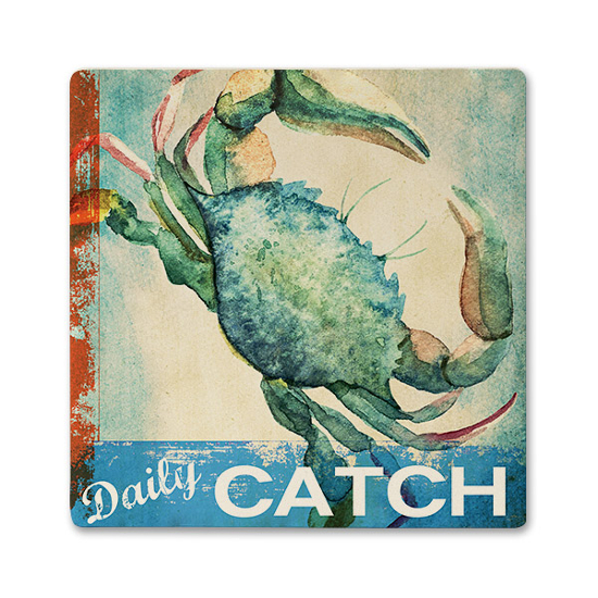 Daily Catch Ceramic Beverage Coaster