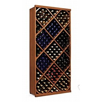 N'finity Wine Rack Kit Diamond Bin Walnut