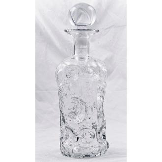 Blenko Glass Decanter 14 Inches Tall with Crystal Stopper