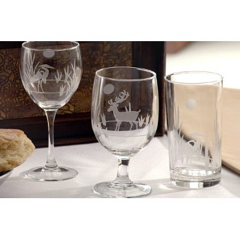 A Stag in the Woods Deer Glassware