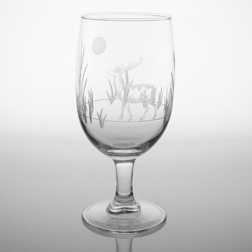 Etched Deer Iced Tea Glasses (set of 4)