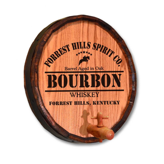 Personalized Derby Bourbon Quarter Barrel Sign