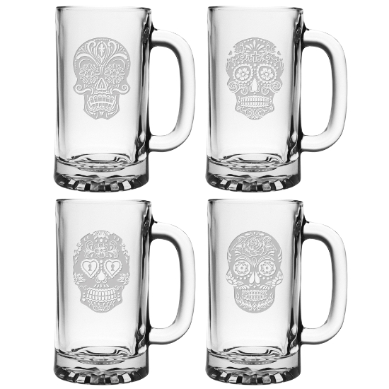 Dia De Los Muertos Beer Mugs (set of 4)