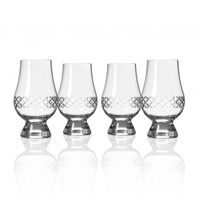 Diamond Glencairn Whiskey Glasses (set of 4)