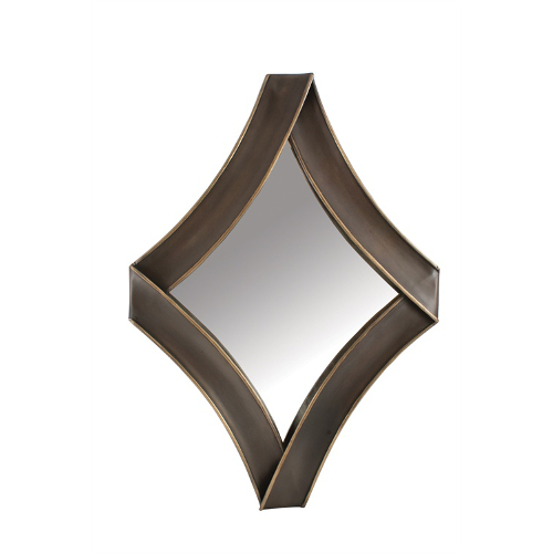 Diamond Metal Antique Gold Mirror