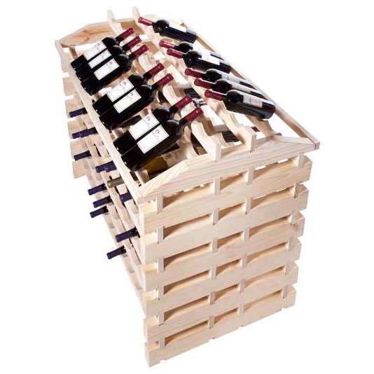 144 Bottle Wooden Modular Island Wine Rack - Natural