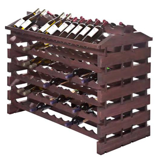 144 Bottle Wooden Modular Island Wine Rack - Stained