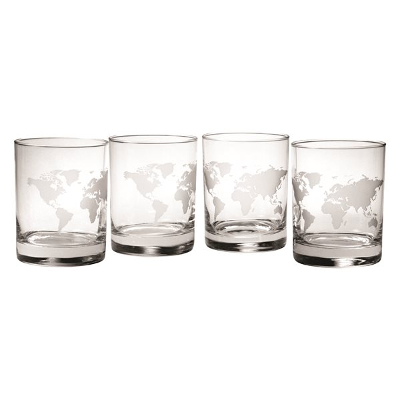 Map of the World  DOF Glasses (set of 4)