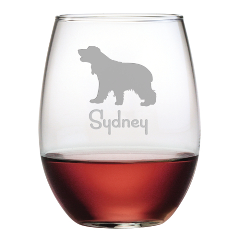 Personalized Pet Breed Stemless Wine Glasses (set of 4)