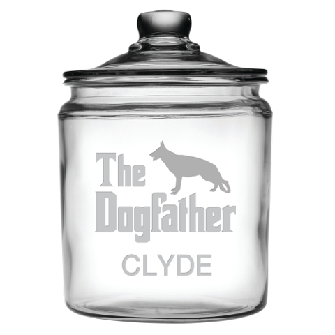 The Dogfather Personalized Treats Jar