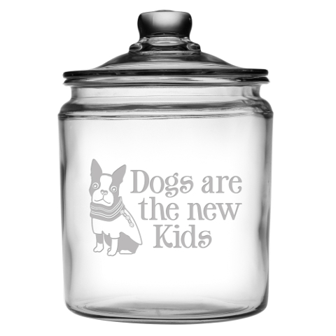 Dogs Are The New Kids Glass Jar With Lid