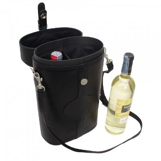 Piel Leather Double Deluxe Wine Carrier