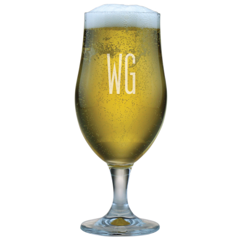 Double Letter Personalized Beer Chalices (set of 4)