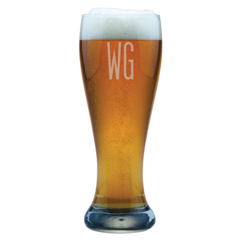 Double Letter Personalized Weizenbier Glasses