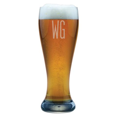 Double Letter Personalized Weizenbier Glasses