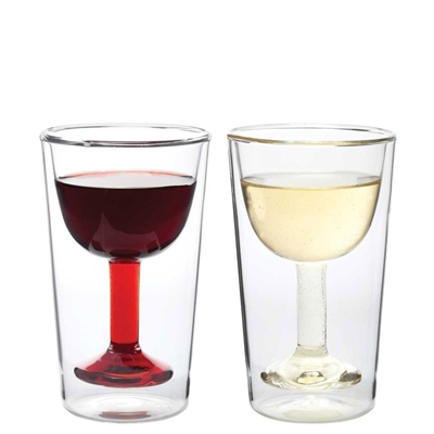 Double Wall Wine Glasses (set of 2)