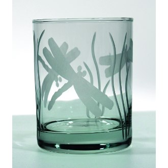 Dragonfly Double Old Fashioned Glasses (set of 4)