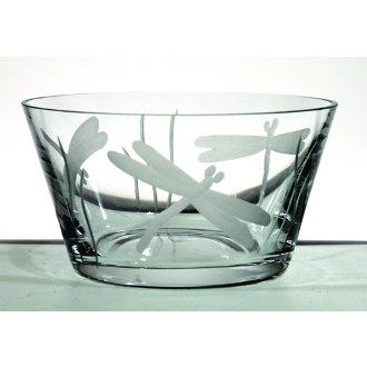 Dragonfly Clear Glass Small Bowls