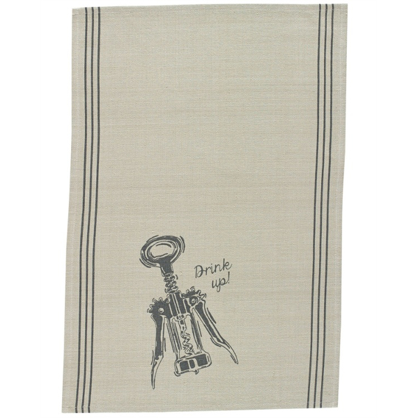 Drink It Up Printed Dishtowel