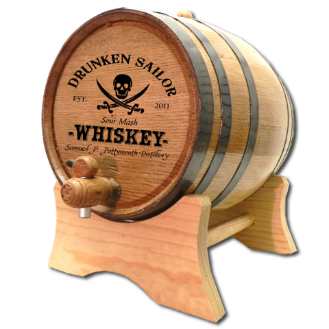 Drunken Sailor Personalized Make Your Own Spirits Oak Aging Barrel