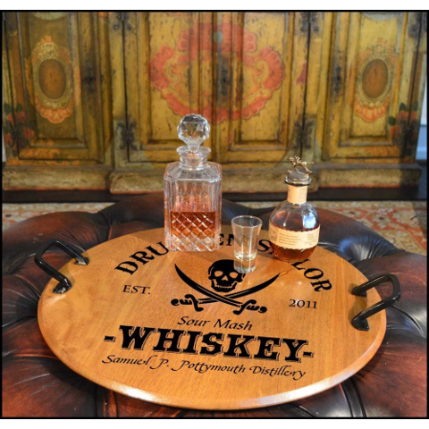 Personalized Drunken Sailor American Oak Serving Tray