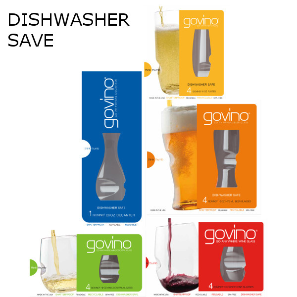 GoVino Dishwasher Safe Variety Gift Pack