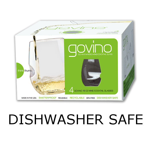 GoVino White Wine Glasses Dishwasher Safe (Set of 4)