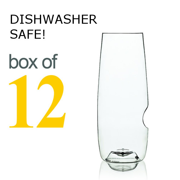 GoVino Champagne Flutes Dishwasher Safe (Box of 12)