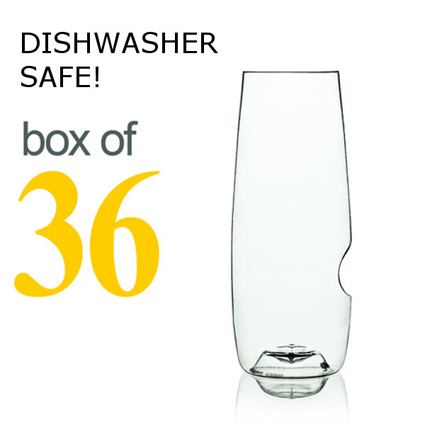 GoVino Champagne Flutes Dishwasher Safe (Box of 36)