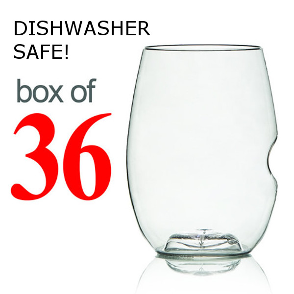 GoVino Red Wine Glasses Dishwasher Safe (Box of 36)