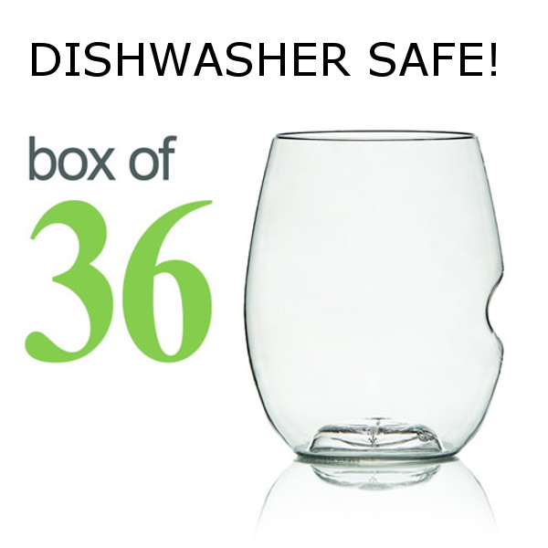GoVino White Wine Glasses Dishwasher Safe (Box of 36)