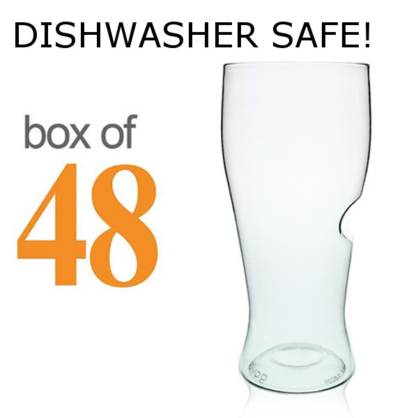GoVino Shatterproof Beer Glasses Dishwasher Safe (box of 48)