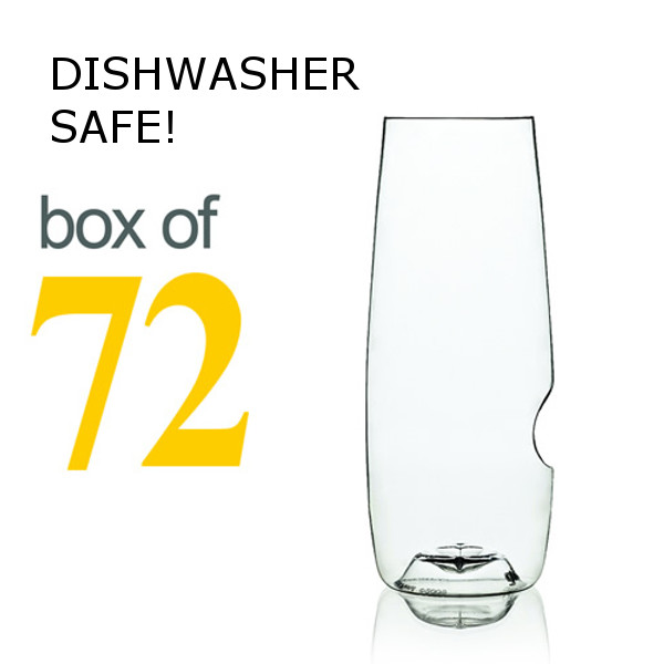 GoVino Champagne Flutes Dishwasher Safe (Box of 72)