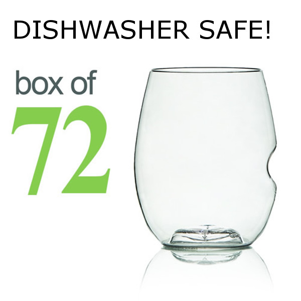 GoVino White Wine Glasses Dishwasher Safe (Box of 72)