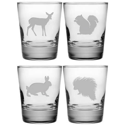 Assorted Eastern Wildlife DOF Glasses (set of 4)
