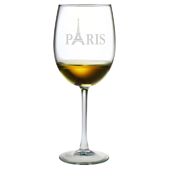 Eiffel Tower Balloon Red Wine Glass Set